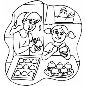 coloring pages of baking - photo#26