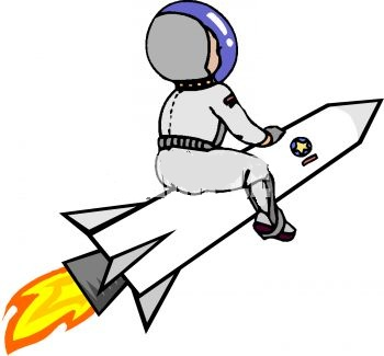 Astronaut on the Outside of a Rocket clipart imageKid Astronaut Clip Art